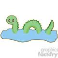 Loch Ness cartoon character illustration