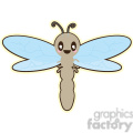 Dragonfly cartoon character illustration