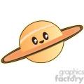 Saturn cartoon character illustration