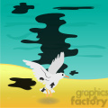 bird in an oil spill  gif, png, jpg, eps, svg, pdf