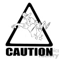 caution stairs sign with man falling black and white