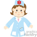 a woman doctor cartoon style