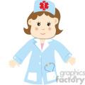 A Woman Doctor Cartoon Style
