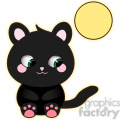 Halloween Black Cat cartoon character vector image