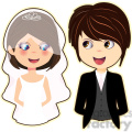 bride and groom cartoon character vector image  gif, png, jpg, eps, svg, pdf