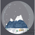 Low Poly Xmas village cartoon character vector clip art image geometric