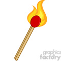 Royalty Free RF Clipart Illustration Burning Match Stick