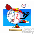 cartoon baseball mascot speedy stealing a base  gif, png, jpg, eps, svg, pdf