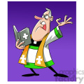 paul the cartoon priest character preaching the gospel