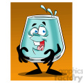 larry the cartoon glass character full of water