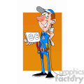 felix the cartoon handy man character holding a plug and outlet  gif, png, jpg, eps, svg, pdf
