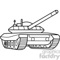 military armored tank outline
