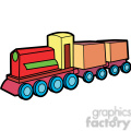 wooden train illustration graphic