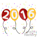 2016 party balloons happy new year