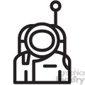 astronaut ready for space vector icon  gif, png, jpg, eps, svg, pdf