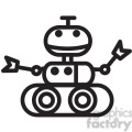 smiling robot space rover vector icon  gif, png, jpg, eps, svg, pdf
