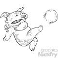 dog footballer vector illustration  gif, png, jpg, eps, svg, pdf