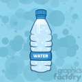 royalty free rf clipart illustration water plastic bottle cartoon illustratoion vector illustration with background