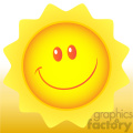 royalty free rf clipart illustration happy sun cartoon mascot character vector illustration with background
