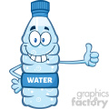 illustration cartoon ilustation of a water plastic bottle mascot character giving a thumb up vector illustration isolated on white background