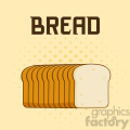 illustration cartoon bread loaf poster design with text vector illustration background