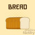 illustration cartoon bread loaf poster design with text vector illustration background  gif, png, jpg, eps, svg, pdf