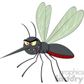 royalty free rf clipart illustration mosquito cartoon character flying vector illustration isolated on white