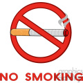 royalty free rf clipart illustration no smoking sign with text vector illustration isolated on white background