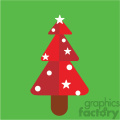 red christmas tree on green square vector flat design  gif, png, jpg, eps, svg, pdf