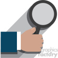 hand holding a magnifying glass flat design vector art no background