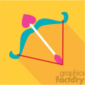 cupids bow and arrow valentines flat design vector icon art