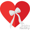 heart with a bow svg cut files vector valentines die cuts clip art