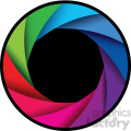vector camera shutter colorful shaded design with border icon