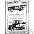1912 vintage car ad vintage 1900 vector art GF
