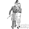 couple walking away vintage 1900 vector art GF