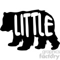 little bear stencil vector svg cut files