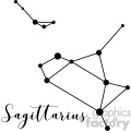 Constellations Sagittarius Sgr the Archer Sagittarii vector art GF vector clip art image