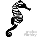 seahorse typography vector svg cut file dxf die cuts clip art