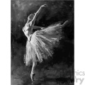 black and white ballet dancer edgar degas vintage 1900 vector art GF