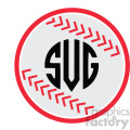 baseball monogram icon svg cut file vector  gif, png, jpg, eps, svg, pdf