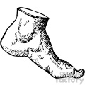 cousin jehan vintage foot vector anatomy art