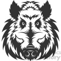 wild boar head vector art