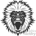 monkey head vector art