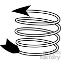 spiral arrow vector design 12