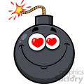 10820 royalty free rf clipart smiling love bomb face cartoon mascot character with hearts eyes vector illustration gif, png, jpg, eps, svg, pdf