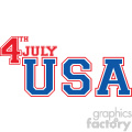 4th of july USA vector icon