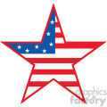 4th of july USA star vector icon