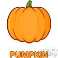 Pumpkin Fruit Cartoon Drawing Simple Design Vector Illustration Isolated On White Background With Text Pumpkin