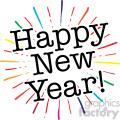 happy new year burst