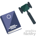 book judge gavel law vector icon